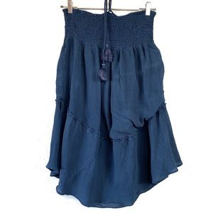 Calypso St. Barth Navy Silk Skirt / Dress Small